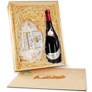 """Präsentbox """"Stollen & Dornfelder Wein"""""""