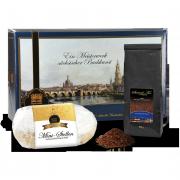 Dresdner Christstollen ® 500g in Stollenkarton mit Stollentee