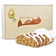1000g Dresdner Christstollen in Premium Holztruhe