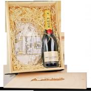 """Präsentkiste """"Dresdner Stollen & Moët & Chandon Impérial Champagner"""""""