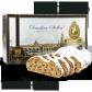 500g Dresdner Stollen ® inkl. 1 € HOPE-Spende - Frontansicht der Geschenkedose
