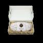 750g Edler Mandelstollen in Geschenkkarton - Einlage in Strohoptik
