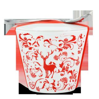 "Porzellan Snack-To-Go Behälter ""Christmas"""