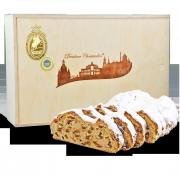 2000g Original Dresdner Christstollen ® in Holzkiste
