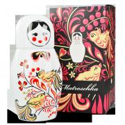 Porzellan Thermoskanne Matroschka mit Weihnachtsverpackung