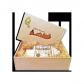 750g Original Dresdner Christstollen ® in Holzkiste - Frontansicht geöffnet