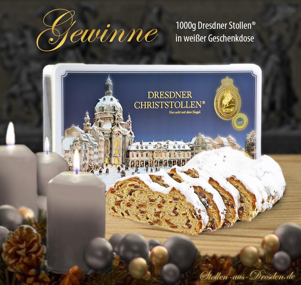 Gewinne 1000g Dresdner Stollen
